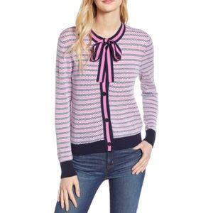 J. Crew Sz L Textured Lady Cardigan Sweater